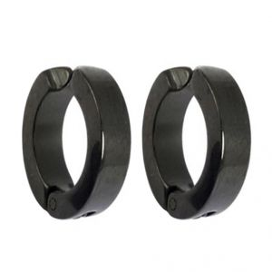 Men Style Black Non-pireced Clip-on Earring - Er11014