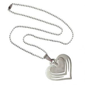 Men Style High Polished Fashionable Heart Silver Stainless Steel Heart Pendant (product Code - Spnoct026)