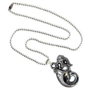 Men Style Lord Ganesha With Om Silver Alloy Necklace Pendant For Men And Women(Product Code -SPn001041)