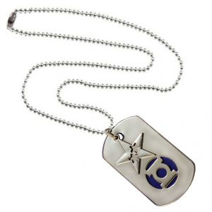 Men Style Star Shape Silver And Blue Stainless Steel Square Necklace Pendant For Men And Boys (product Code -spn001044)