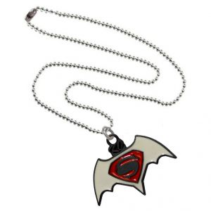 Men Style Superman Inspired Red And White Alloy Necklace Pendant For Men And Boys (product Code -spn001049)