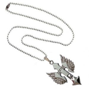 Men Style I Love Mom Prayer Cross Pendant Necklace With Angel Wing Silver Alloy Necklace Pendant For Men And Women(Product Code -SPn001053)