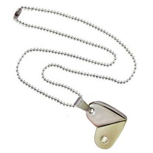 Men Style Rotational Two Colour Twice Style Heart Or Bullet Silver And Gray Stainless Steel Heart  Pendant (Product Code -  SPn011061)