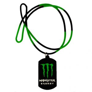Men Style Monster Inspired Black And Green Rubber Square Pendant (product Code - Spn011070)