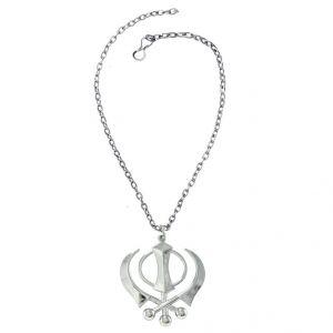 997ca83a1 Men Style Sikkh Khanda Silver Stainless Steel Khanda Pendant (Product Code  - SPn011102)