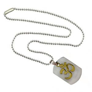 Men Style Simple Vintage Antique Om Gold And Silver Stainless Steel Necklace Pendant For Men And Women (Product Code -SPn003031)