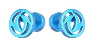 Men Style Fish Circle Shape Blue Stainless Steel Surgical Stud Earring For Men And Women (product Code -pser001051)