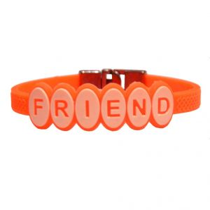 Men Style Hot Selling Friend Ship Orange Silicon Flat Bracelet For Men And Women - (code - Sbr06009)