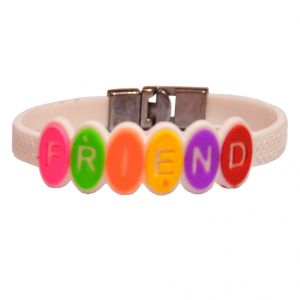 Men Style Best Quality Friendship White Silicon Flat Bracelet For Men And Women - (code - Sbr06011)
