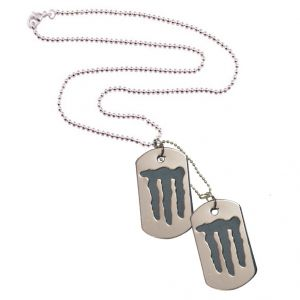 Men Style Stylish New Design Dog Tag Silver Stainless Steel Rectangle Pendent For Men And Women - (code - Spn06025)