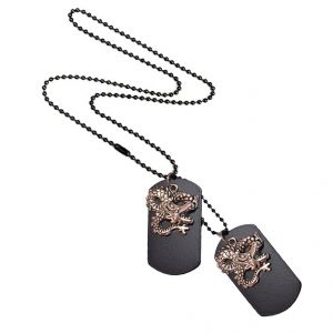 Men Style Vintage Style Dragon Design Necklace Silver Alloy 00 Pendent For Men And Women - (code - Spn06026)