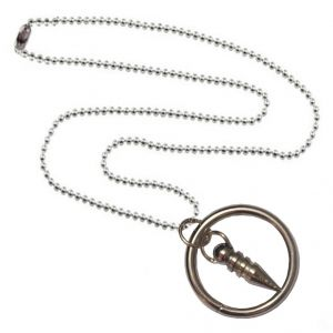 Men Style Ring And Bullet Silver Alloy Ring Shape Pendent For Men And Women - (code - Spn06042)