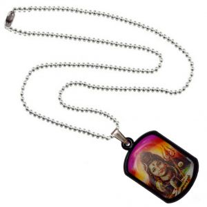 Men Style God Shiv Shankar Multicolor Alloy Square Pendent For Men And Women - (code - Spn06045)