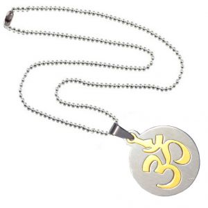 Men Style Gold And Silver Stainless Steel Cutting Circle Pendent For Men And Women - (code - Spn06060)