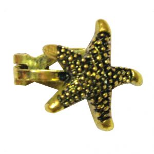 Men Style New Fashion Star Gold Alloy Piercing Stud Earring For Men And Boy (product Code - Ser07001)