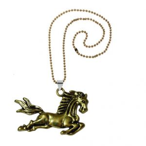 Men Style Running Mustang Horse Gold Zinc Alloy Animal Pendant For Men And Women (product Code - Spn08056)