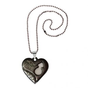 Men Style Crystal Female Symbol Love Heart Black Alloy Heart Pendant For Girls And Women (product Code - Spn08066)