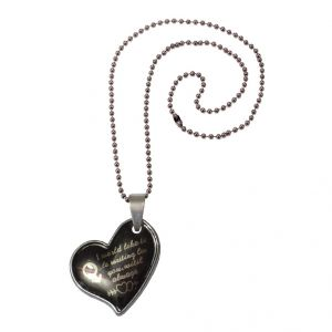 Men Style New Design Female Symbol Love Heart Black Alloy Heart Pendant For Girls And Women (product Code - Spn08067)