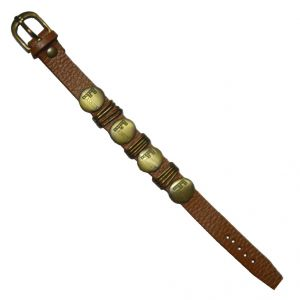 Men Style Fashiontone Sbr09036 Brown Faux Leather Flat Bracelet For Men And Women (product Code - Sbr09036)