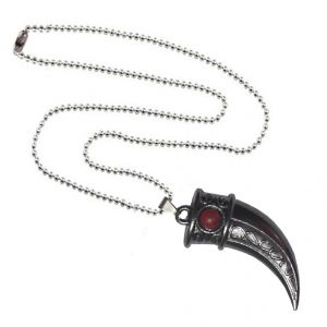 Men Style Red Crystal Hunting Lion Claw Grey Zinc Alloy Nail Pendant For Men And Women (product Code - Spn09043)