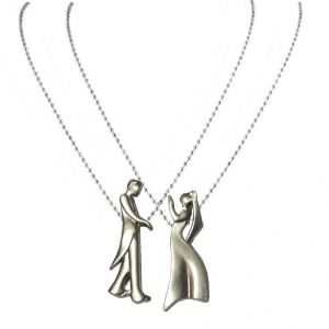 Men Style New Fashion Valentines Day Couple Silver Zinc Alloy Gift Pendant For Men And Women (product Code - Spn09048)