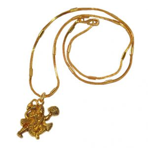 Men Style Loard Hanuman SPn09068 Gold Alloy Bajiranbali Pendant For Men And Women (Product Code - SPn09068)