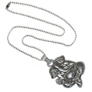 Men Style Loard Shree Ganesh SPn09073 Silver Alloy Pendant For Men And Women (Product Code - SPn09073)