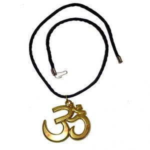 Men Style Eleghant Large 3D Devotional OM AUM SPn09075  Gold Alloy Pendant For Men And Women (Product Code - SPn09075)