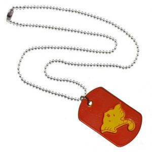 Men Style Loard Shree Ganesh Red And Yelloe 316 L Stainless Steel Square Pendant For Men And Women (Product Code - SPn09095)