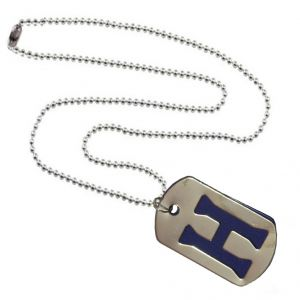 Men Style Alphabet H Letter Silver And Blue 316 L Stainless Steel Square Pendant For Men And Women (product Code - Spn09096)