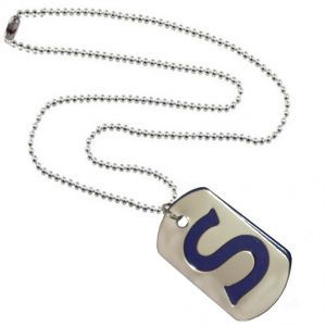 Men Style Alphabet S Letter Silver And Blue 316 L Stainless Steel Square Pendant For Men And Women (product Code - Spn09098)