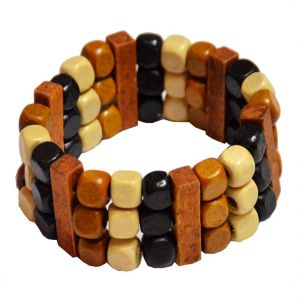 Men Style Handmade Multicolor Wood Bracelet For Men And Women