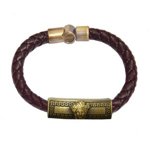 Men Style Brown Leather Bracelet For Men Sbr05020