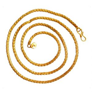 Jewellery - Men Style New Design Dual Tone  Gold And White Alloy Snake Chain Or necklace
