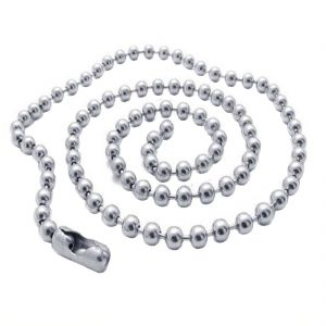Men Style 6 MM Ball Silver 316 L Stainless Steel Circle Chain