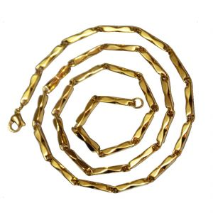 Men Style 4 MM Stylish Gold 316 L Stainless Steel Link Chain