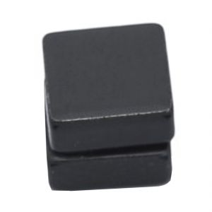 Men Style Plain Stud Black Stainless Steel Square Magnetic Earring