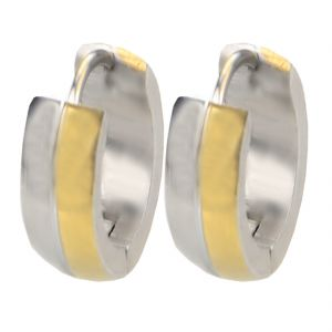 Men Style Best Quality 316l Gold Stainless Steel Round Hoop Earring For Men And Boy