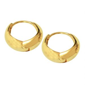Men Style Best Quality Korean Made Big Salaman Khan Inspired Gold 316 L Stainless Steel Round Hoop Earring For Men And Boy Ser05010