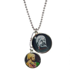 Men Style Multicolor Indian Warrior King Chhatrapati Shivaji Maharaj Pendent- Spn01047
