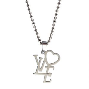 Men Style Silver New Stylish Symbol Of Love Pendent
