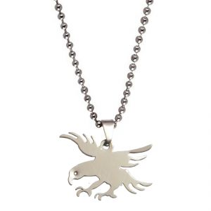 Men Style 32 MM Flying Eagle Charm Silver Stainless Steel Pendent For Men