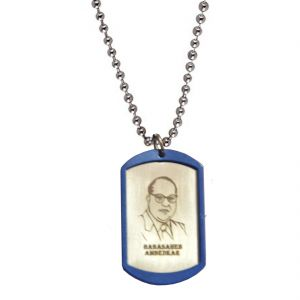 Men Style Dr.babasaheb Ambedkar Silver Stainless Steel Frame Type Pendent