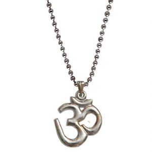Men Style Om Silver Alloy Om Pendent For Men And Boys
