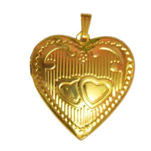 Men Style New Design Love Gold Alloy Heart Locket Pendent For Men And Wo