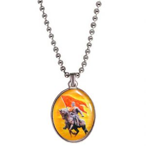 M tech Women's Clothing - Men Style Chhatrapati Shivaji Maharaj Multicolor  Stainless Steel Oval Pendent for Men SPn04014