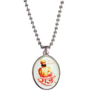 Men Style Chhatrapati Shivaba Raje Maharaj Multicolor Pendent For Men Spn04015
