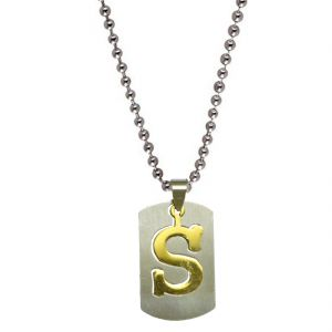 "Men Stylealphabet Letter ""s"" Plated Silverpendant For Men And Boys Spn04021"
