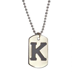 "Men Style Alphabet Letter ""k"" Platedpendant For Men Spn04024"
