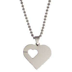 Men Style Love Silver 316 Stainless Steel Heart Shape Pendent For Mn And Women Spn05009